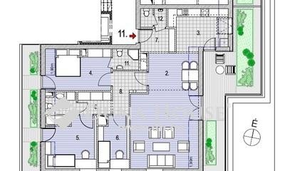 Eladó Tároló, Budapest, 2 kerület, Zöldmálon 11 lakásos társasház legfelső emeletén